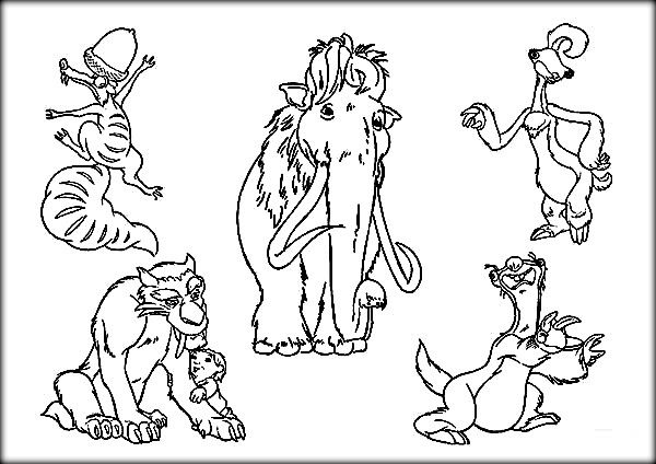Ice Age Coloring Pages Printable For Kids Coloring Pages
