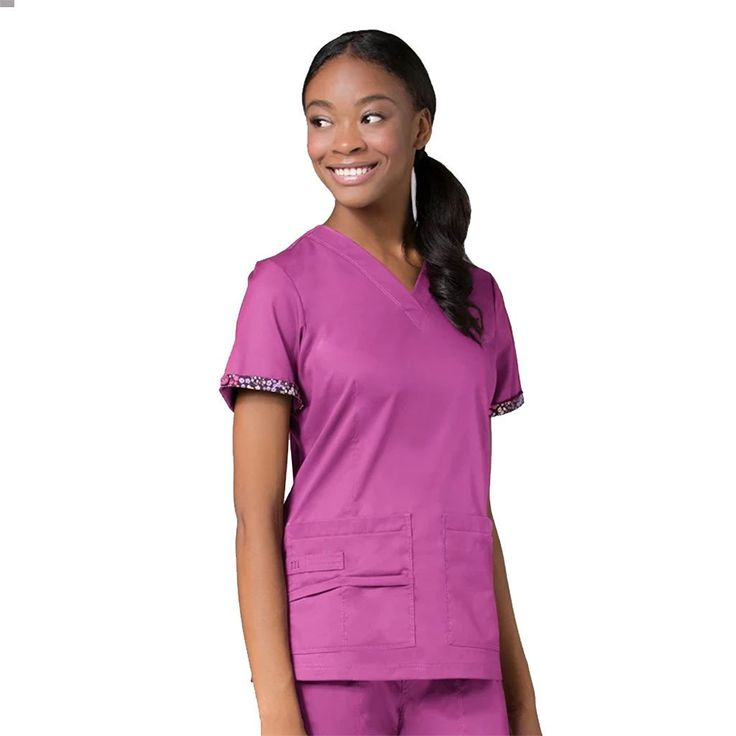 Maevn Primaflex 1722 Orchid.Are you looking for designer quality nurses uniforms, dental uniforms and healthcare scrubs. Try this Maevn uniform.