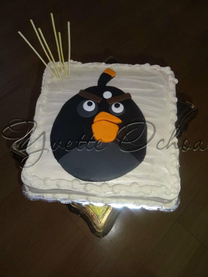 Pastel de angry birds en Mexicali / Angry birds birthday cake