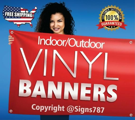 13 Oz Full Color Printed Vinyl Banners With Hems Grommets If You Are Looking For A Custom Banner You Are A Custom Banners Vinyl Banners Custom Vinyl Banners