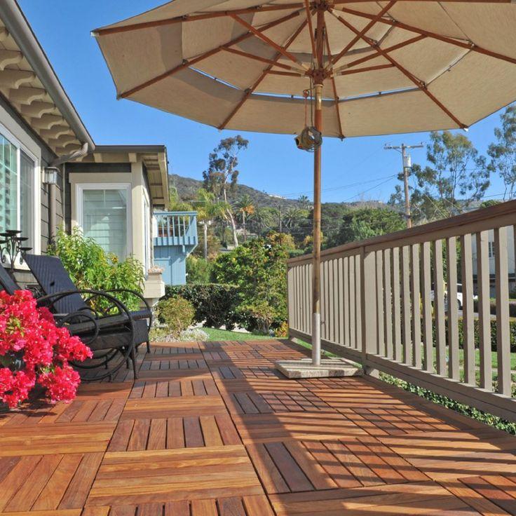 Caillebotis Dalle Tali - à poser - brut - KD #wood #bois #parquet #deco #decoration #sun #natural #terrace #exoticwood