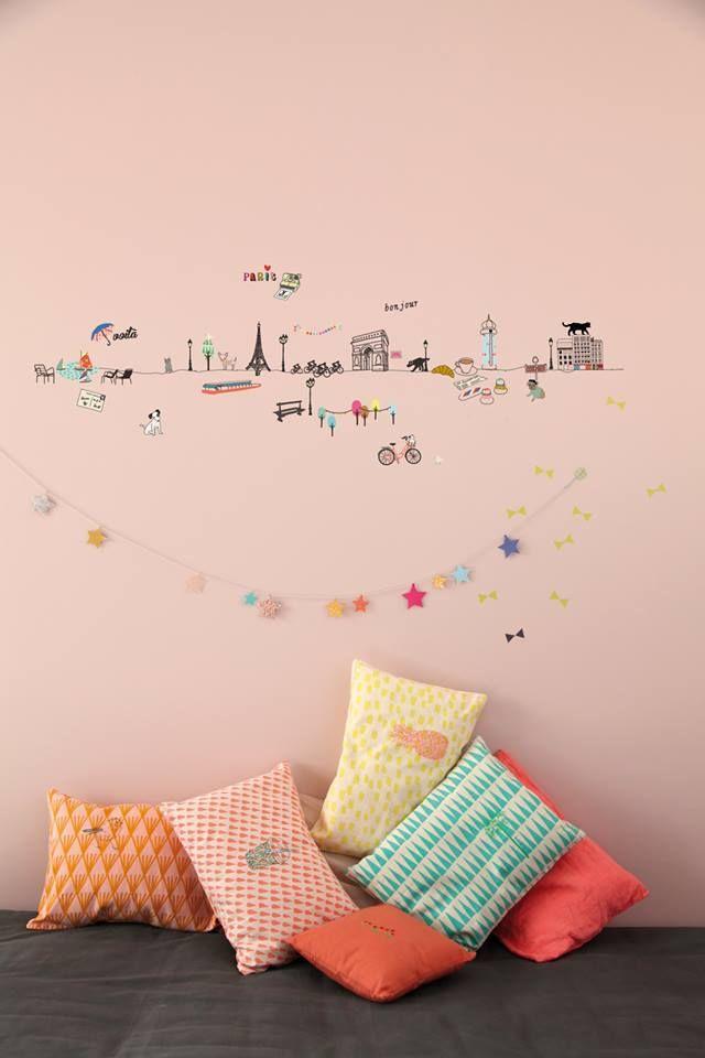 Deco murale chambre enfant www.creations-savoir-faire.com #SalonCSF