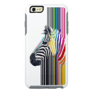 awesome trendy colourful vibrant stripes zebra OtterBox iPhone 6/6s plus case