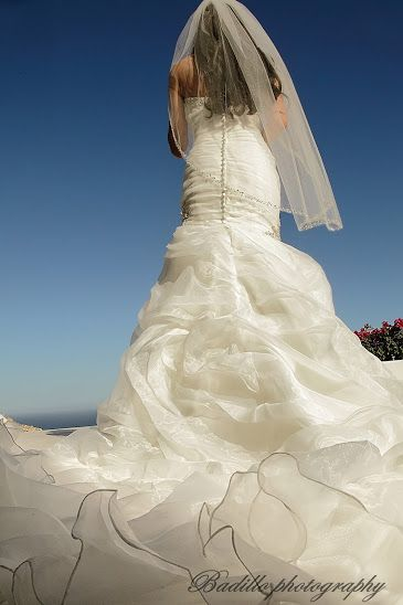 Trompette Wedding dress for this Summer wedding in Pedregal!