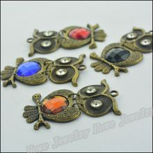 12 шт. винтажный подвески-талисманы сова кулон антикварный бронза Fit браслеты ожерелье своими руками металл ювелирные изделия делает(China (Mainland))