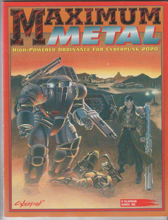 1993 Maximum Metal Cyberpunk 2020 Supplement by RubbersuitStudios #cyberpunk #roleplayinggames
