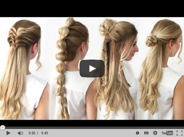 4 FRISUREN mit WOW EFFEKT! Einfach & Schnell - TheBeauty2go   Heute zeige ich euch 4 einfache und wunderschöne Frisuren mit WOW Effekt! Mit diesen Frisuren werdet ihr mit Sicherheit positiv auffallen!   (Länge: 06:45)