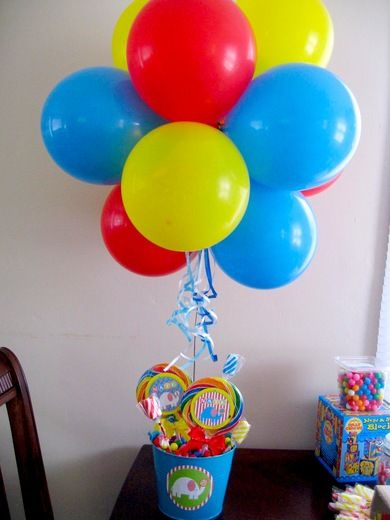 Circus birthday party ideas balloon buckets and
