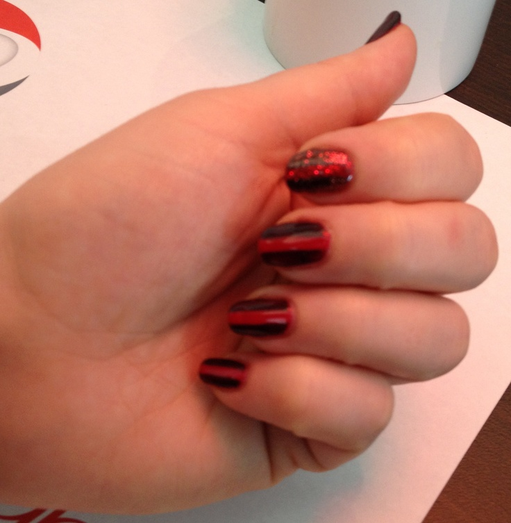 Shellac fedora red glitter