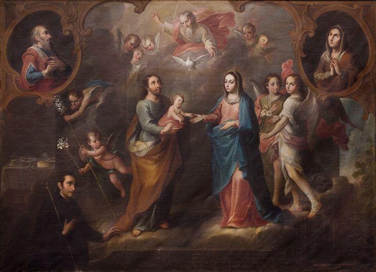 La Sagrada Familia y el Hermano Pedro Basto, Miguel Cabrera, Museo Nacional del Virreinato, Tepozotlán, Edo. de México.