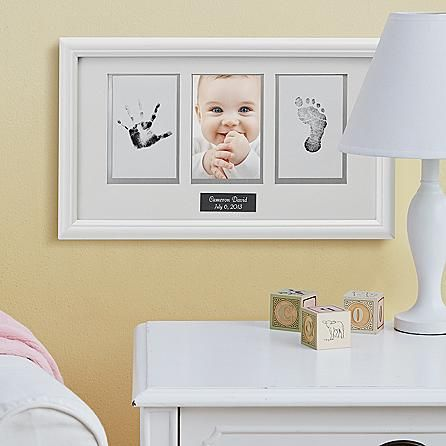 baby handprint and footprint picture frame i wish i had this from when my kids
