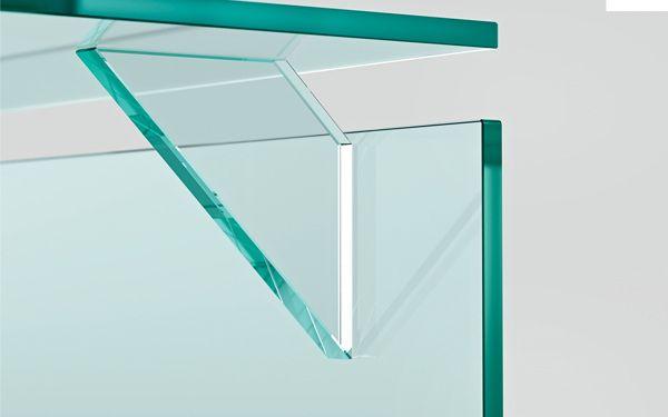 BRIGHT table for FIAM ITALIA by Valerio Cometti+V12 Design, via Behance