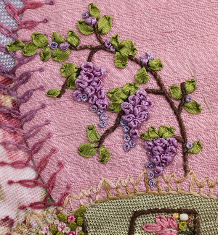 Humming Needles: Wisteria, Quince Tree And Blending Silk Ribbon
