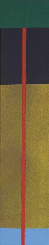 """""""Red Liner #2"""" by Dan Christensen, 1971"""