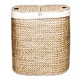 Seville Classics Hand-woven Oval Hyacinth Double Hamper  | Overstock.com