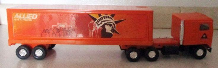 Ertl Truck Allied Moving Van Statue Of Liberty Kenworth Cab Trailer 1980's?  B6  #Ertl #Kenworth