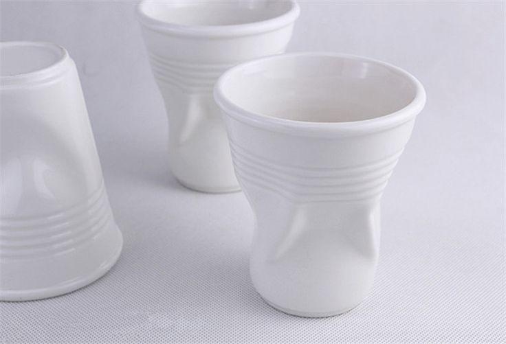 Одноразовые бумажные стаканчики дизайн персонализированные простой белой керамической смешно кофе партийные кружки чашка drinkware купить на AliExpress