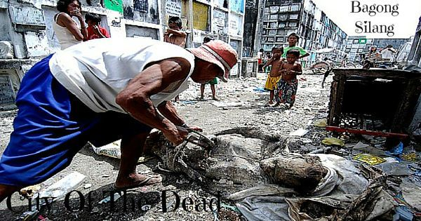 Living inside Philippines graveyard. Poverty in the Philippines.