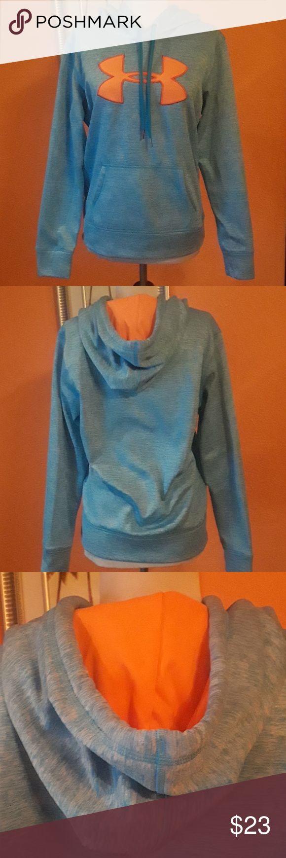 Under Armour Hoodie (women's) Under Armour Hoodie (women's),100%polyester,exclusive of decoration color blue and coral Under Armour Jackets & Coats