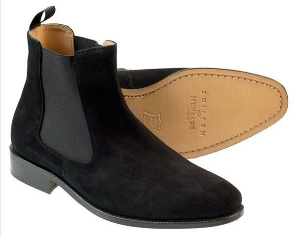 Shipton & Heneage Black Suede Chelsea Boot - Auraboxx