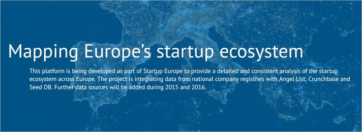 Europe's startup ecosystem mapping project | Digital Agenda for Europe, European Commission