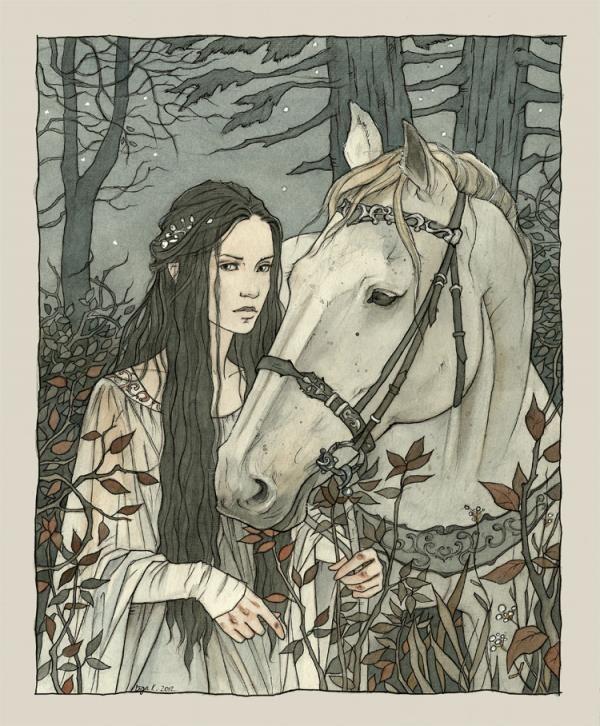 Illustrations by Liga Klavina | Enmeshed in nan elmoth