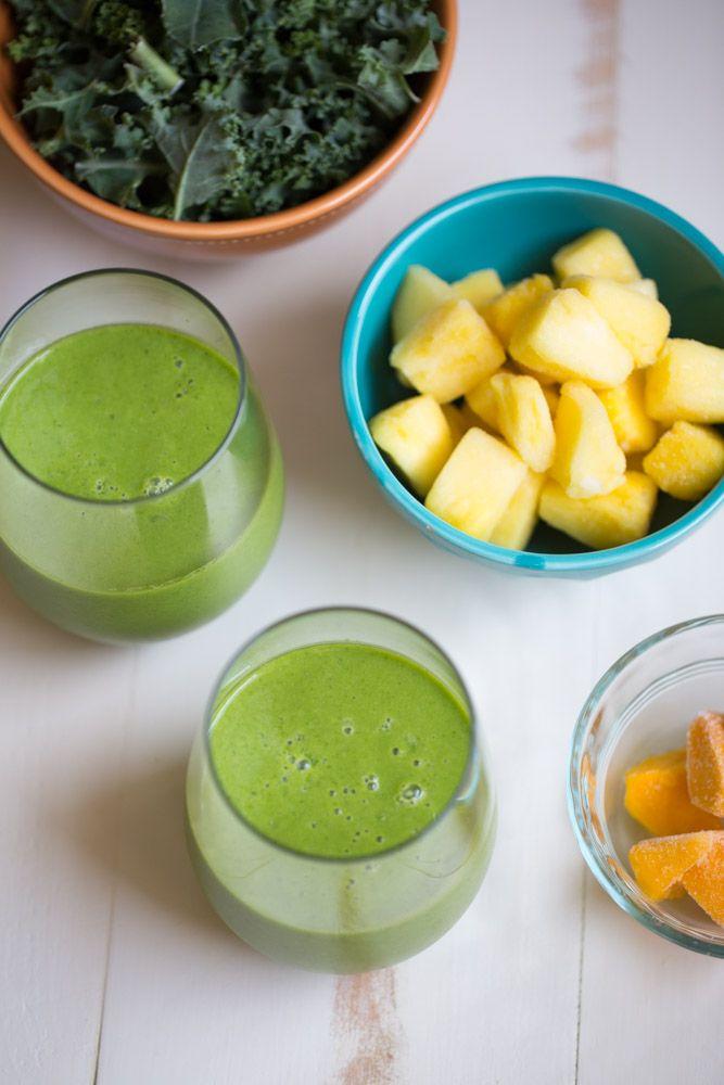 Tropical Kale Smoothie | Receta | Licuados, Jugos y Granizados