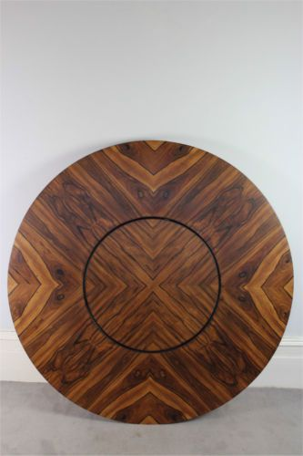 Merrow Associates Circular Rosewood Dining Table With Lazy