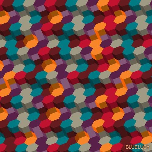 Bluelucy: Colors Pattern, Art, Graphics Design, Blueluci Pattern, Design Tools Inspiration, Multicolored Hexagons