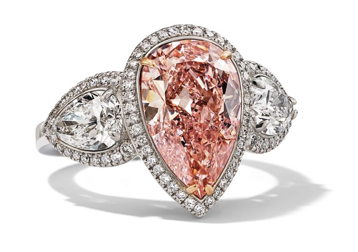 Rosendorff Couture Collection Pear Cut Pink Diamond Ring