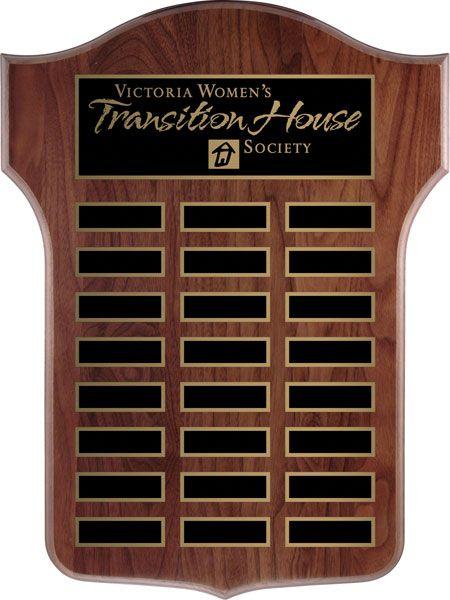 Thomas Annual Shield Plaque