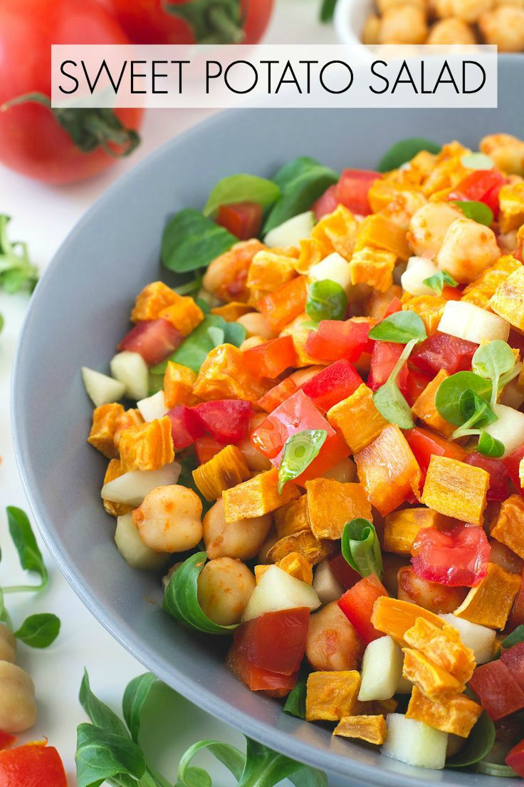 This light and colorful Sweet Potato Salad is a refreshing dish to serve with any CPK oven-ready pizza.