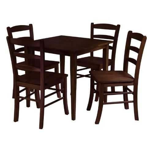 Winsome Groveland Square Dining Table With 4 Chairs, 5 Piece At Http:/