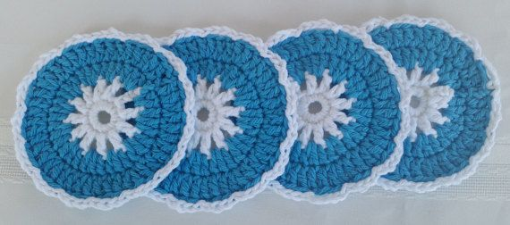Do you love blue in your kitchen? These are very absorbable. See details at:  Etsy.com/shop/GrammysCustomCrochet