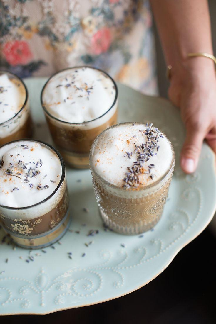 Gin-lavender lattes