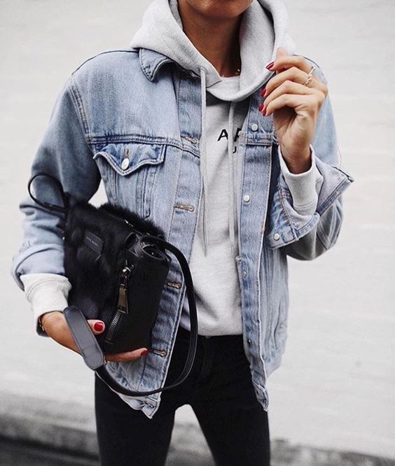The 25  best Jean jacket hoodie ideas on Pinterest | Cute jackets ...