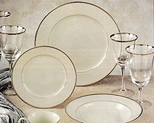 Love this classic Florence Platinum china from Celebrity China. It is so timeless and classy! Click the image link to start your registry with them today! Image credit: Celebrity China website.