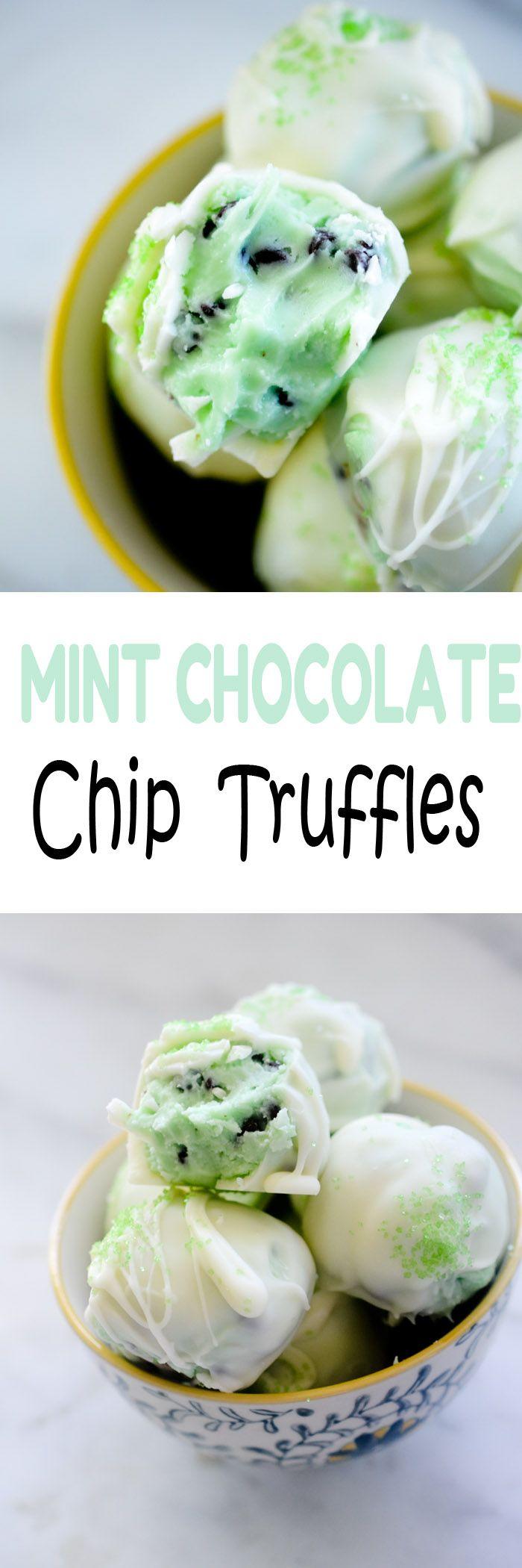 Mint Chocolate Chip Truffles - Recipe Diaries #mint