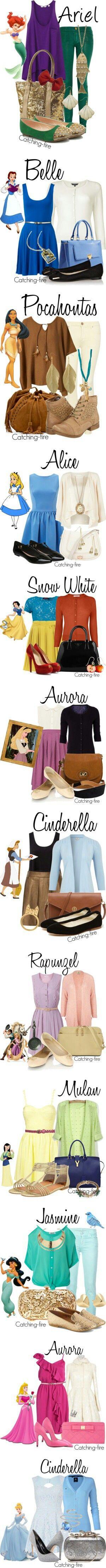 Disney! Love Phocahontas, Aurora and Cinderella the most <3