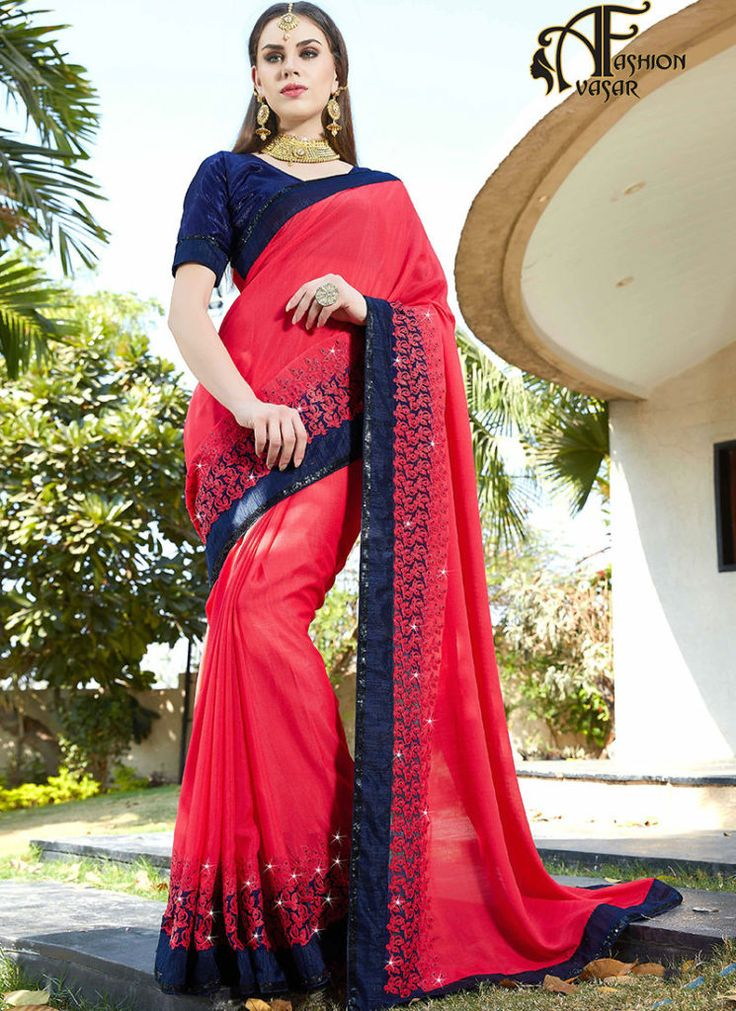 pink online designer saree shopping – georgette sarees online shopping india