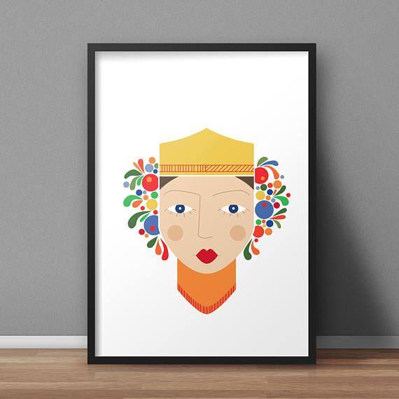 Guarda questo articolo nel mio negozio Etsy https://www.etsy.com/it/listing/509490030/poster-stampa-regina-design-scandinavo