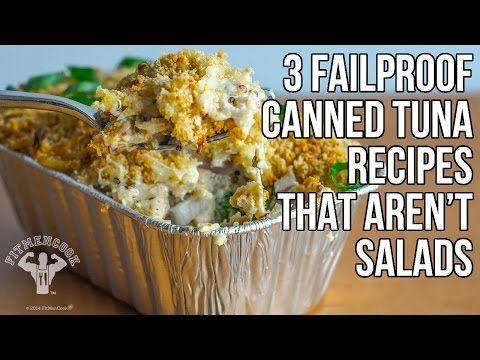 ▶ 3 Easy & Cheap Canned Tuna Recipes That Aren't All Salads / 3 Maneras Usar Atún Enlatado - YouTube