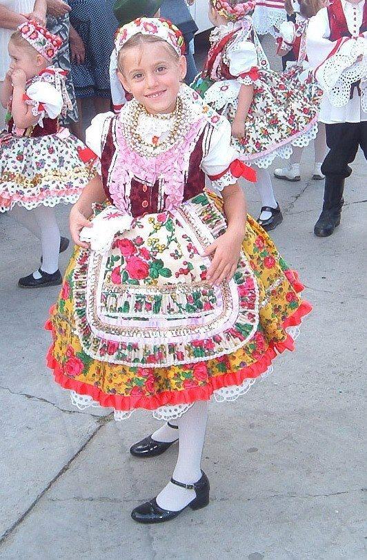 hungarian child in folk wear