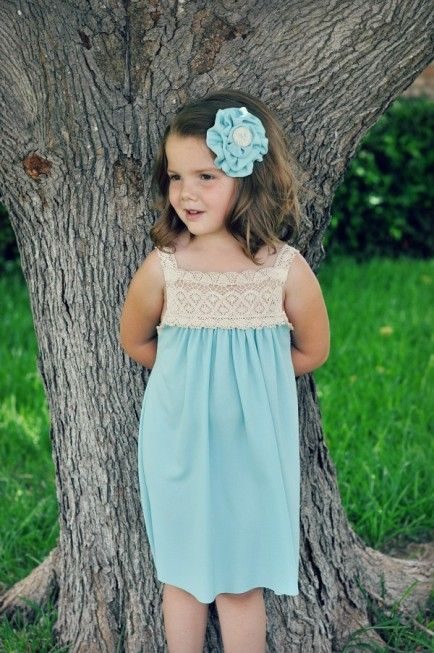Lace topped dress 25 DIY Summer Clothes for Kids