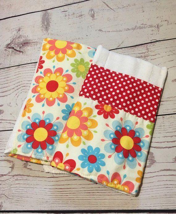 Handmade baby burp cloth