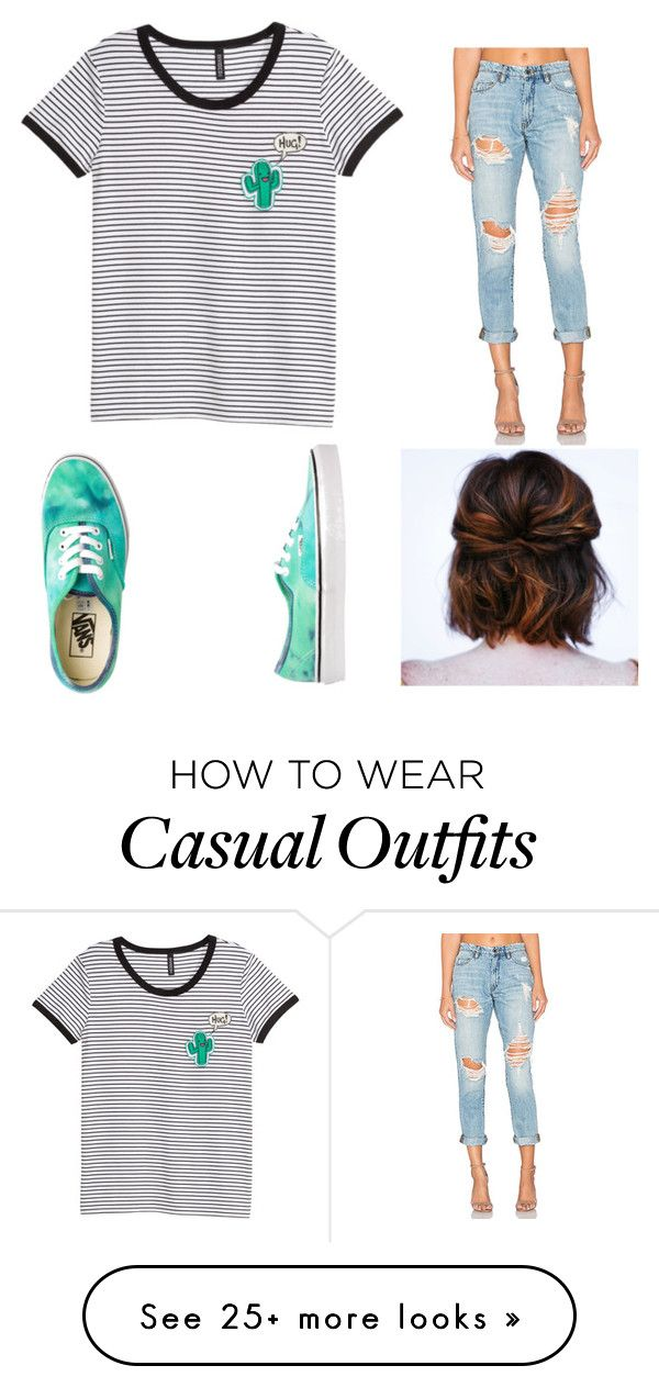 """Casual"" by sarahgorlick on Polyvore featuring BLANKNYC and Vans"