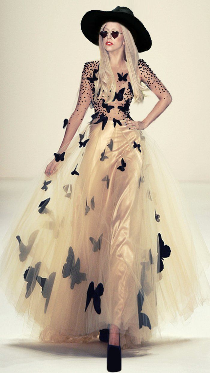 Lady Gaga awesome butterfly dress