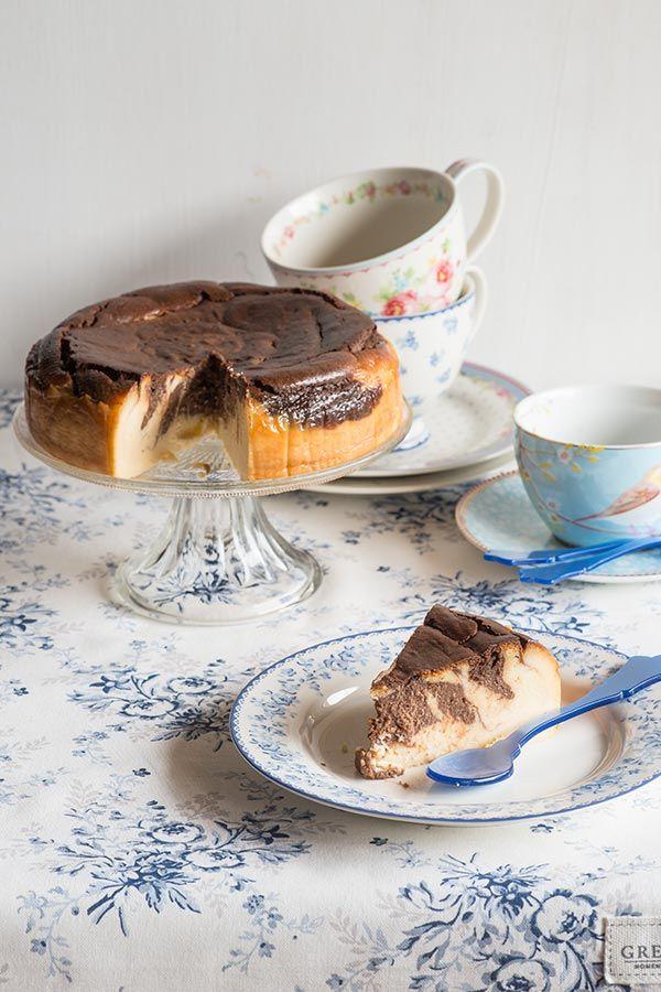 tarta de queso marmolada
