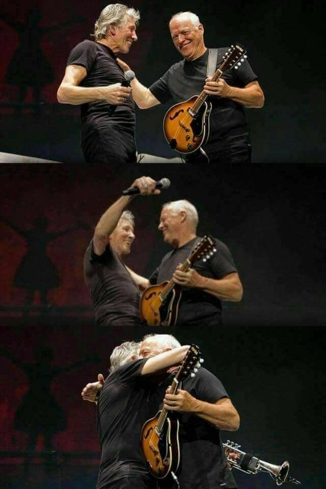 Love these two legands. David Gilmour and Roger Waters of Pink Floyd.