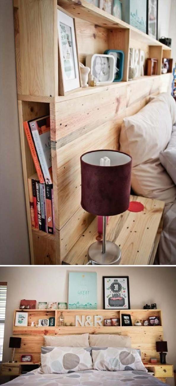 Die Besten 25+ Kopfteil Regale Ideen Auf Pinterest Kopfteil Mit   Bett  Regal Stauraum Ablage